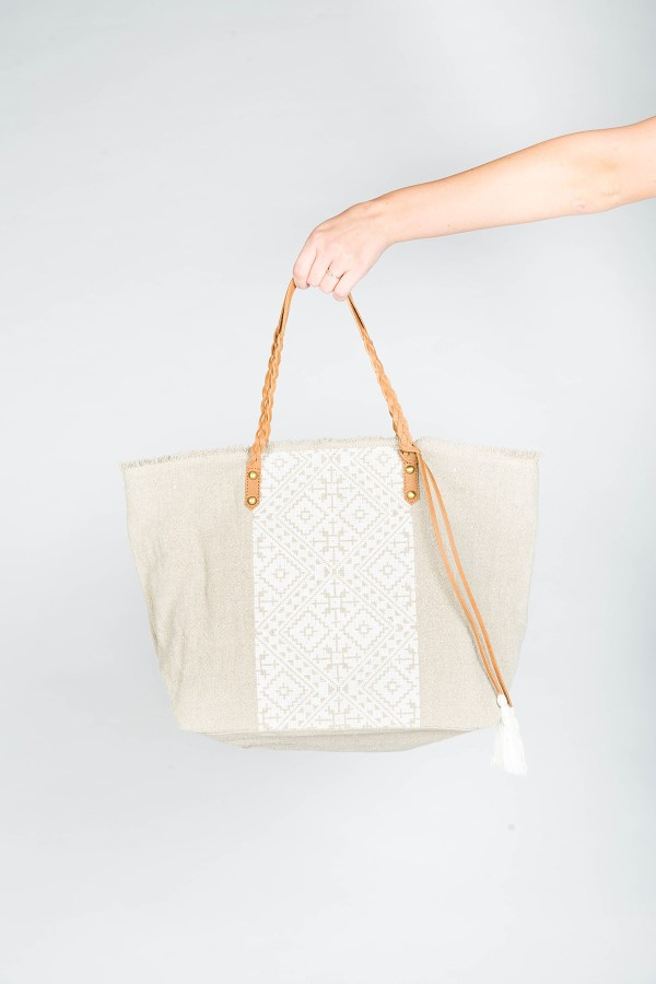 Jasmine Tote Bag White