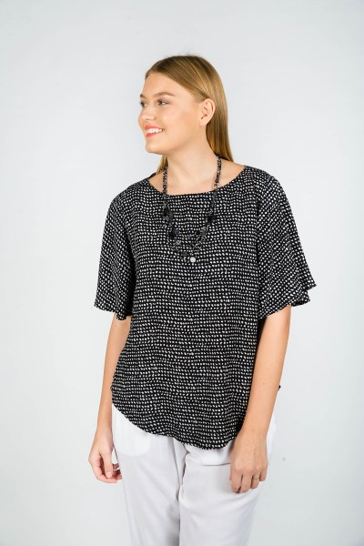 Matilda Top Paris Black