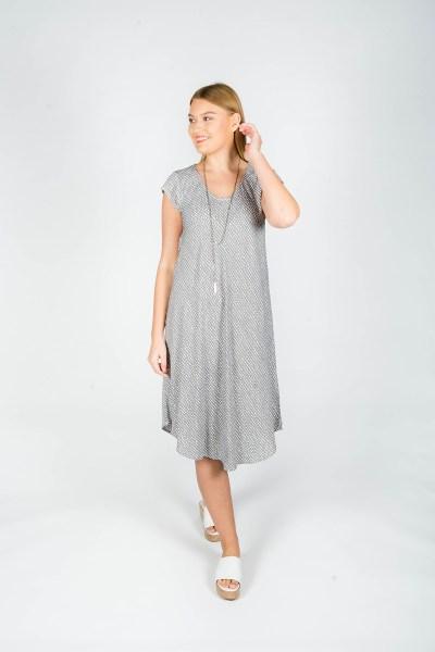 Florence Dress Paris Grey