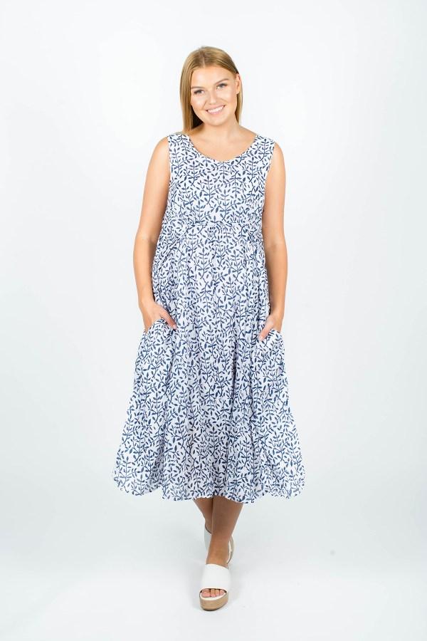 Emily Dress Fleur Navy