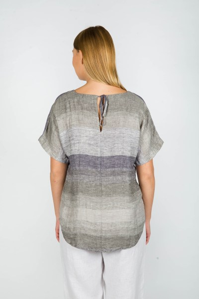 Eliza Top Seattle Grey