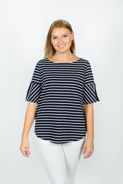 Eloise T-Shirt Navy Stripe