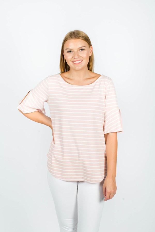 Eloise T-Shirt Pink Stripe