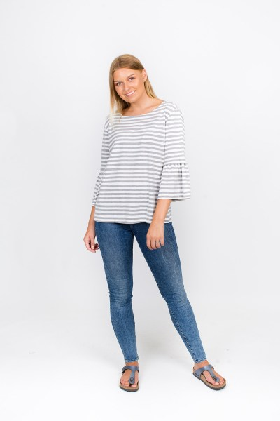 Piper T-Shirt Grey Stripe