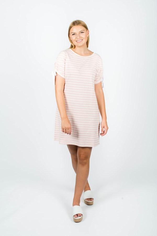 Lexi Dress Pink Stripe