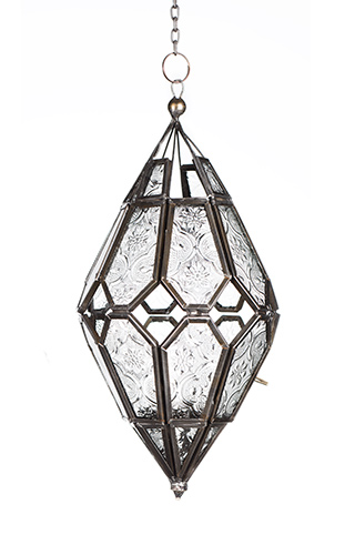 Moroccan Style Hanging Clear Glass Lantern > Lanterns