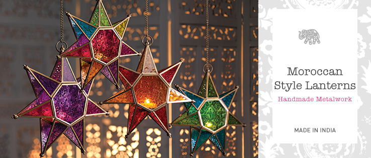 Moroccan Style Lanterns In Coloured Glass Gt Home Amp Gifts