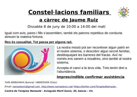 Constel·lacions familiars amb Jaume Ruiz