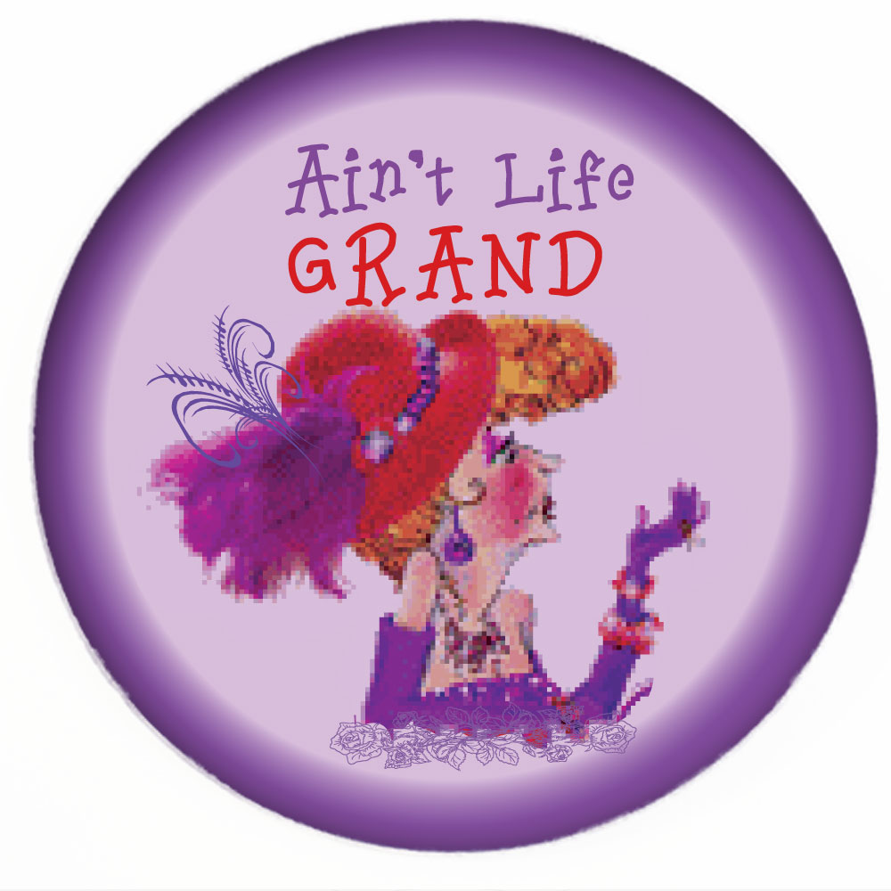 Red Hat Button 466 Aint Life Grand