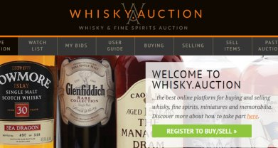 whiskey auction screenshot