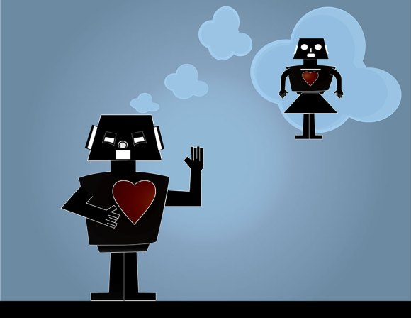 robot dreaming of his love