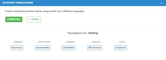keyword translated