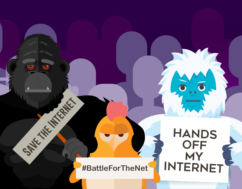 Hero image of Stand Up for Net Neutrality on July 12