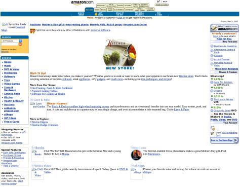 snapshot of amazon.com in 2000