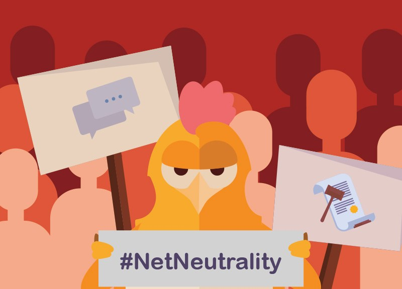 Save Net Neutrality chicken