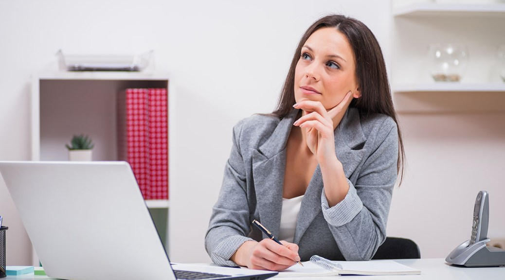 woman deciding whether or not to choose WordPress