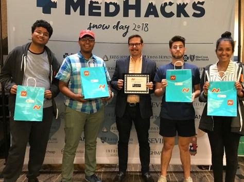 winning team at Medhacks