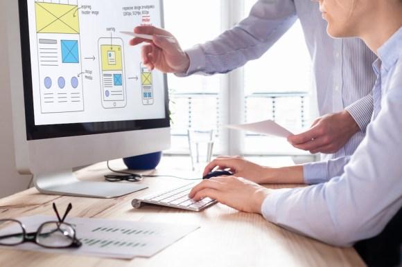 team of designers testing usability