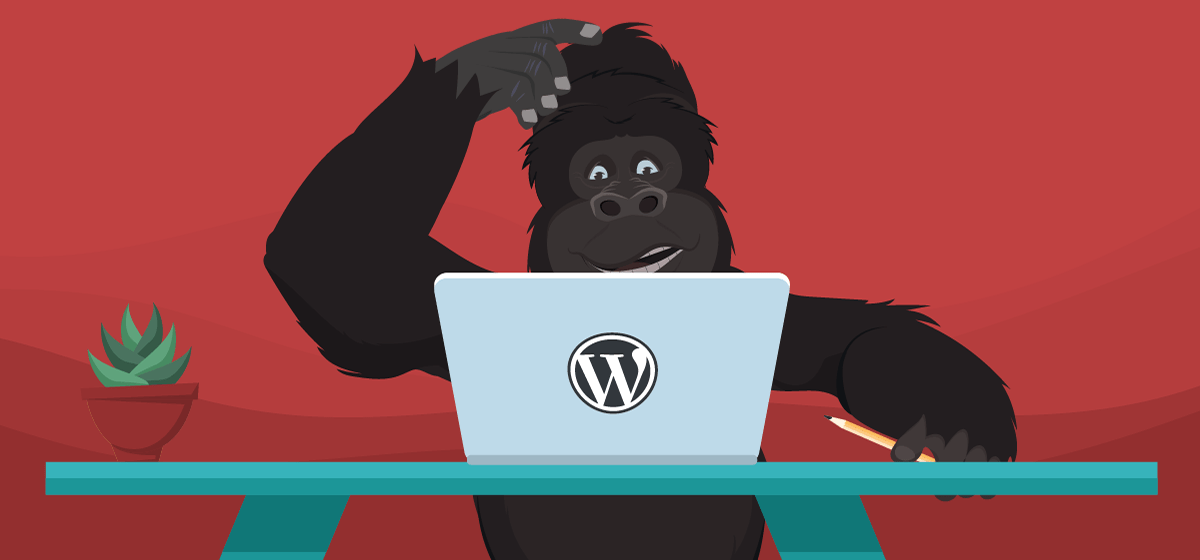 Gorilla using WordPress