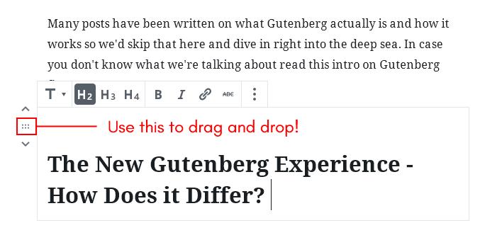 screenshot showing drag and drop