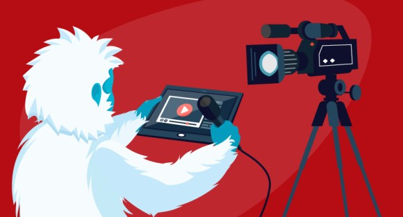 Yeti doing a video