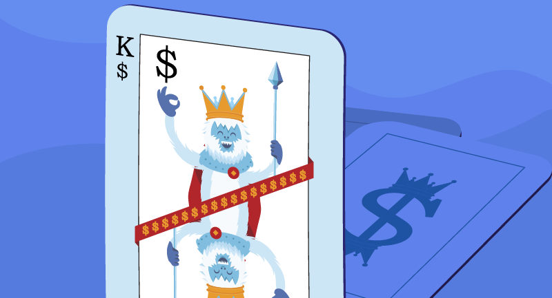 cash is king as a playing card