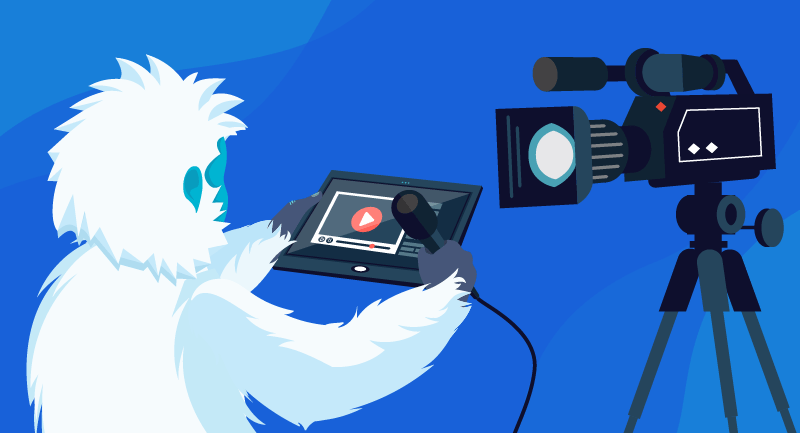Yeti about to do a video on social media