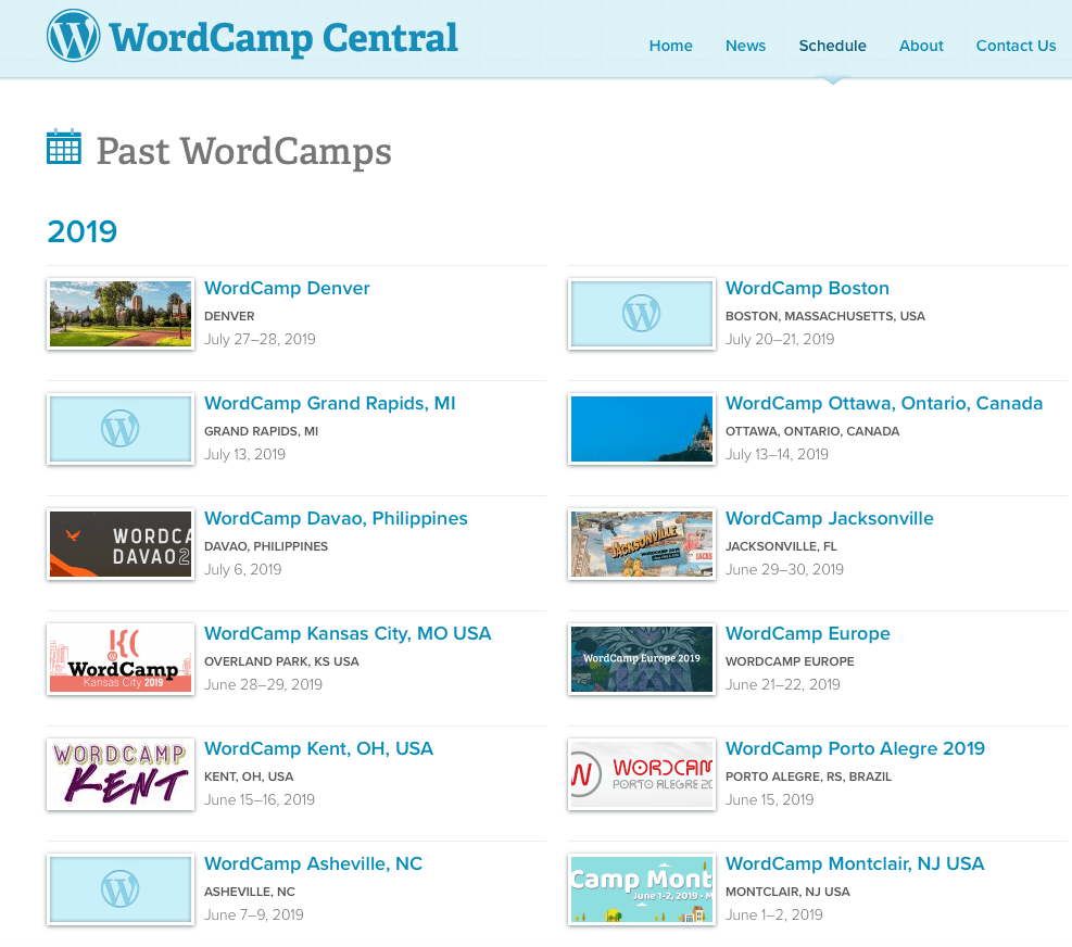 WordCamp screenshot