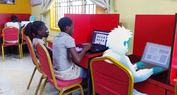 Coding champions hard at work