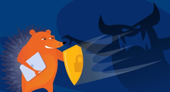 hedgehog heroically fighting malware