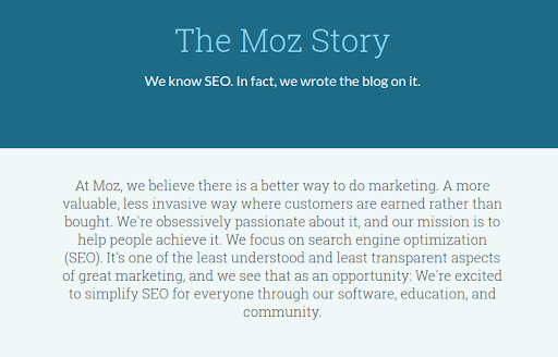 Moz about page