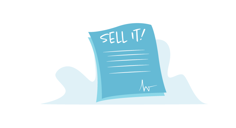 Sales contract graphic
