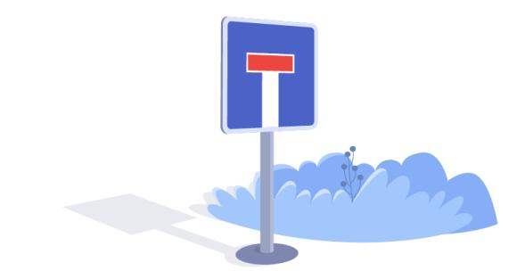 roadblock sign