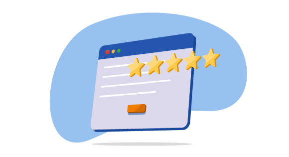 website image with 5 stars