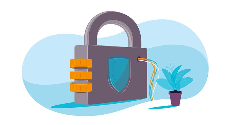 malware padlock graphic