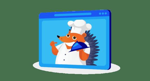 Hedgehog on video