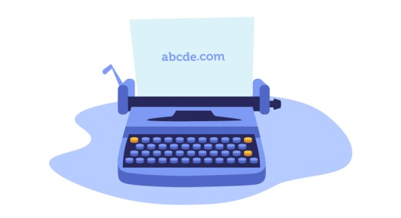 typewriter with abcde.com