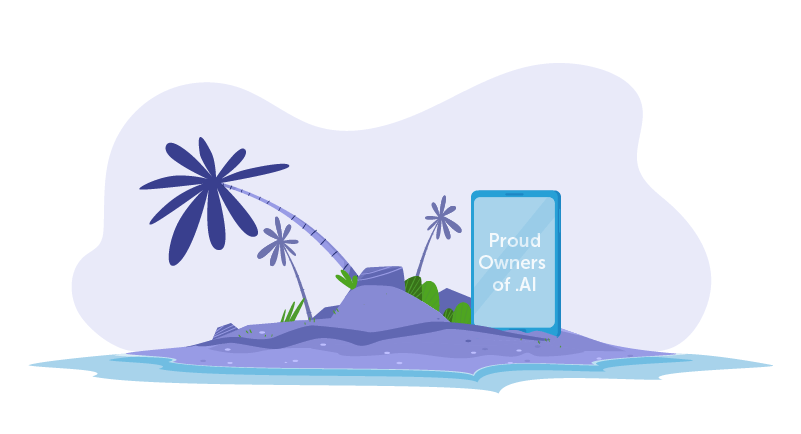 AI domain on a Caribbean island