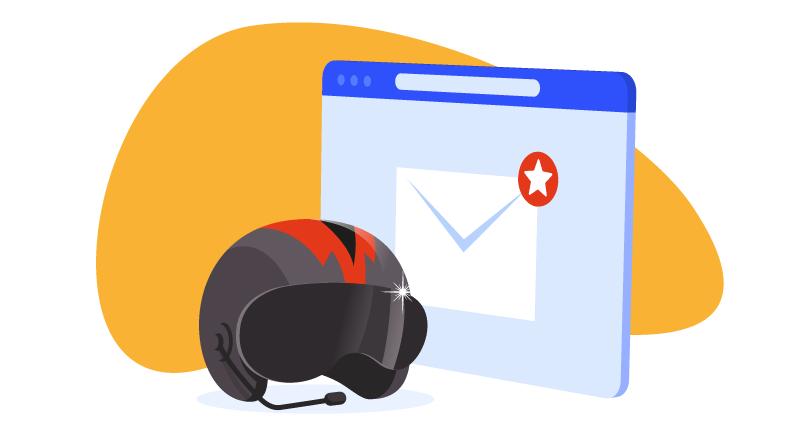 pigeon helmet by email window