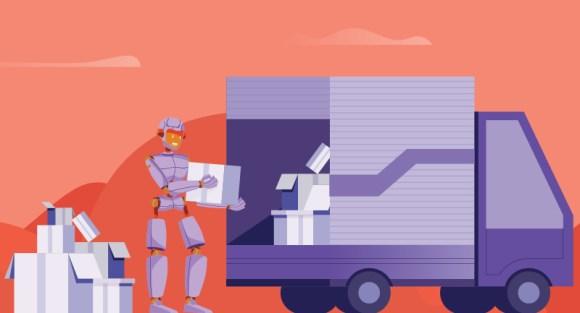 robots moving boxes