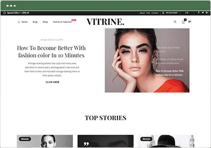 Vitrine example screenshot