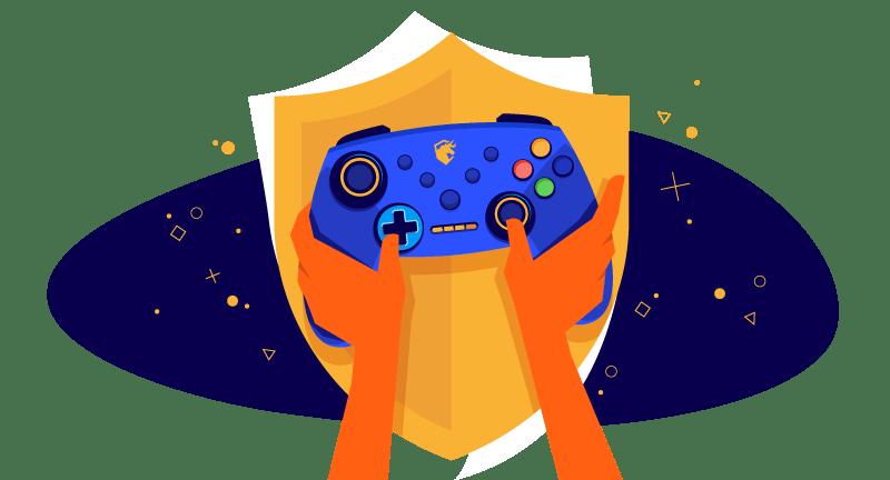 hedgehog using video game controller