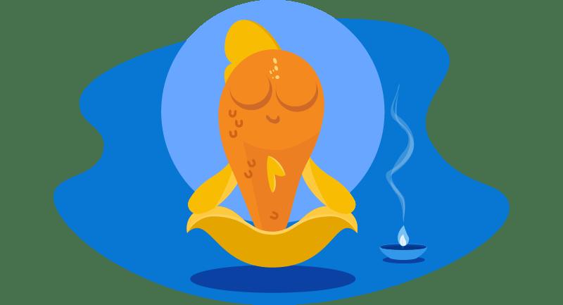 fish meditating