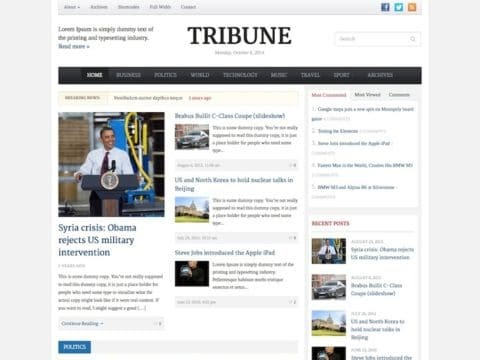 Tribune WordPress magazine theme