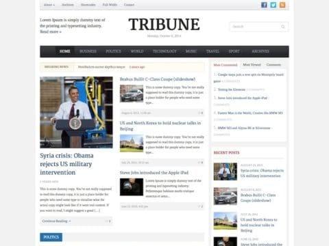 Tribune WordPress magazine theme