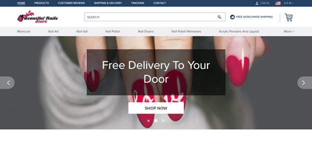 screenshot of beautifulnails.store