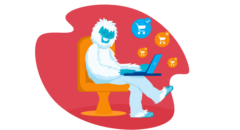 Yeti researching purchases for Black Friday