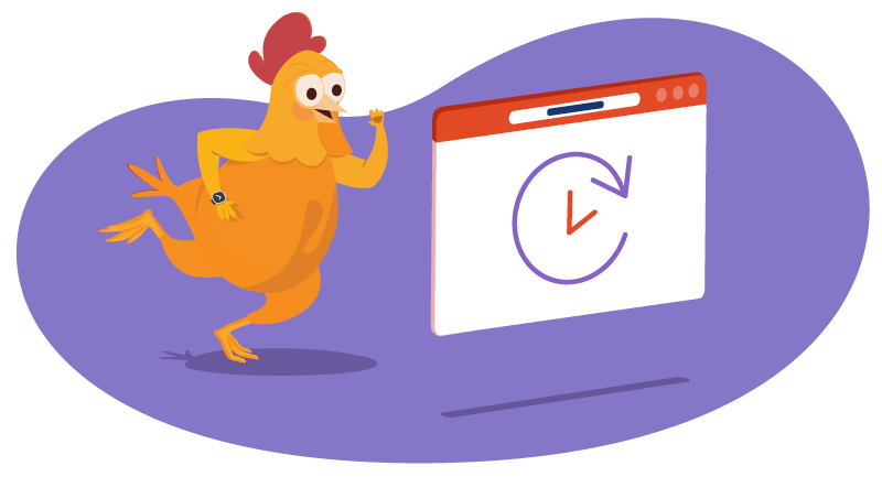 chicken rushing to renew domain