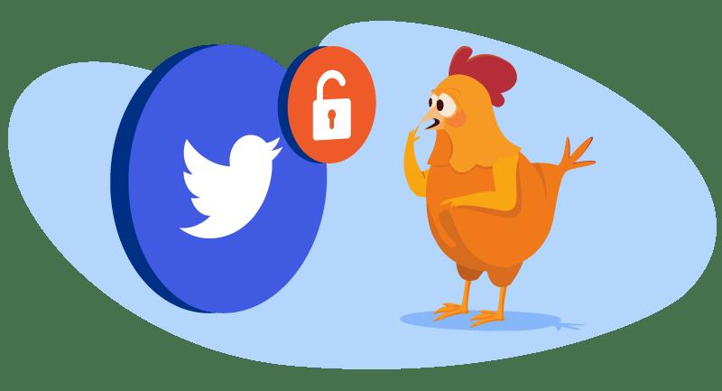 chicken facing Twitter hack
