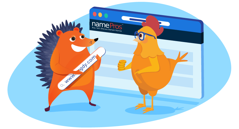 Hedgehog discussing domains from NamePros